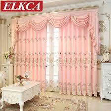 chambre de luxe pour fille brodé chenille rideaux pour salon épais princesse rideaux