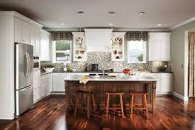 Kitchen Cabinets Craftsman Style Medallion Craftsman Maple White Icing And Cherry Eagle Rock Sable