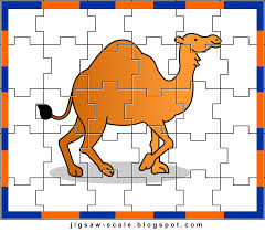 printable jigsaw puzzle for kids camel jigsaw