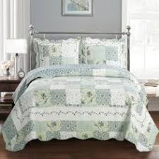 California King Quilts And Coverlets Country Cottage Green Floral Quilt Coverlet Set Oversized Floral