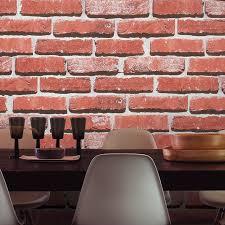 aliexpress com buy haokhome modern faux brick wallpaper red grey