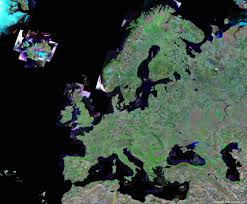 Map Of European Rivers by Europe Map And Satellite Image