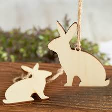unfinished wood laser cut bunny ornaments wood cutouts