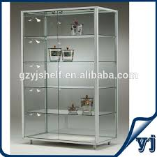 glass cabinet free standing lockable glass display cabinets tower glass vitrine