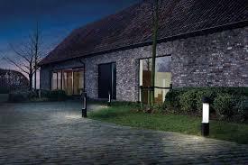 garden bollard light contemporary metal halogen george by
