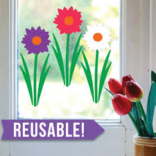 party city halloween window clings easter decorations spring decor window cling reusable