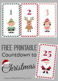 christmas countdown calendar free printable countdown to christmas meet