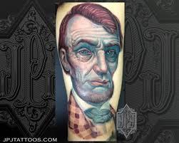 lincoln portrait tattoo