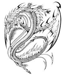 dragon coloring pages for adults fablesfromthefriends com