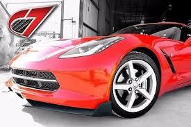 corvette manufacturer 2014 c7 chevrolet corvette gtx front splitter w side splitters