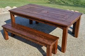 impressive patio table and bench cedar wood patio set from