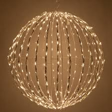 Outdoor Lighted Balls by Warm White Led Christmas Light Ball Fold Flat White Frame