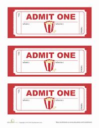 7 printable movie ticket template sendletters info