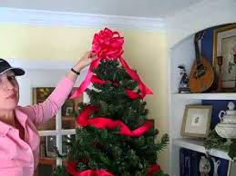 how to decorate a christmas tree using ribbons and bows youtube