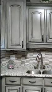 painted and stained kitchen cabinets splendid weathered gray kitchen cabinetry finishes both painted and