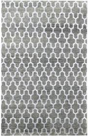 Hand Knotted Rugs India Modern Geometric Pattern Rug J36917