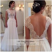 vintage beach wedding dress lace summer cheap backless bride