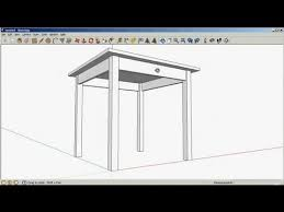 sketchup drawing a table youtube
