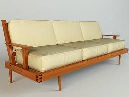 Wooden Sofa 3d Model Wooden Sofa Modern Cgtrader