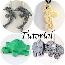 quilling earrings tutorial pdf free download tutorial for paper quilled animal jewelry pdf dolphin elephant