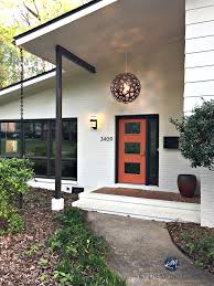 kylie m interiors decorating ideas blog exterior palette cream brown and orange subtle mid century style with painted a brick split level makeover