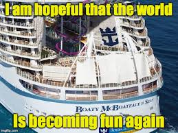 Cruise Ship Meme - royal caribbean has joined the craze by allowing james hand to help