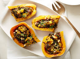vegan rice stuffed butternut squash recipe stuffed
