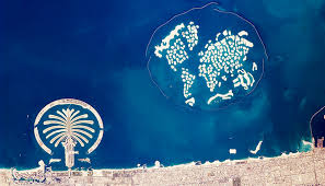 satellite map hd map of dubai city dubai emirate united arab emirates
