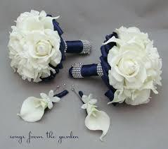 navy wedding flower package bridesmaid bouquets groomsman
