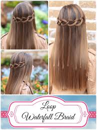 hair braiding styles step by step how to create a loop waterfall braid cute girls hairstyles