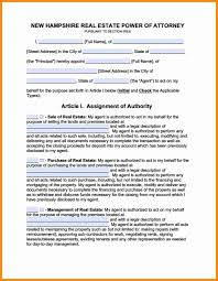 New Jersey Durable Power Of Attorney by 9 Power Of Attorney Form Nh Action Plan Template