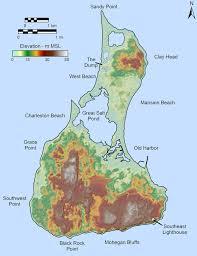 Map Rhode Island Block Island Bluff Photograph Database Bryan A Oakley Ph D