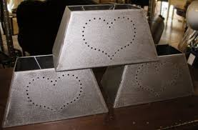 punched tin lighting fixtures punched tin metal l shade rectangle shape