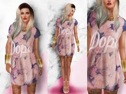 second life marketplace blokc oversized t shirt dress in pink