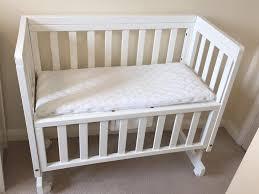 john lewis troll bedside crib co sleeper cot white mattress u0026 2
