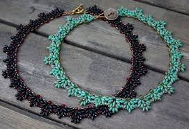 etsy beads necklace images Tutorial amanda beaded necklace with super duo beads etsy jpg