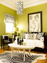 grey and lime green living room interior design