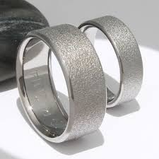 titanium wedding ring sets titanium wedding ring set stn12frost titanium rings studio