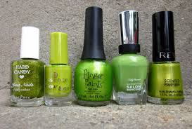 nails by a nursing student green nail polish heaven