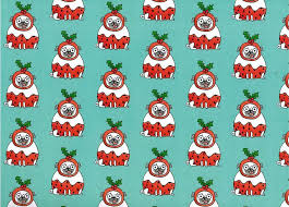 pug wrapping paper christmas pugs rolled gift wrap paper pug