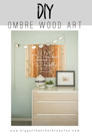 remodelaholic 9 cool wood projects november link party ombre wood stencil art and giveaway bigger than the three of us
