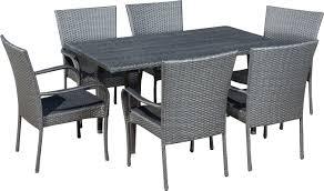 Wicker Patio Dining Chairs 7 piece minerva patio dining set u0026 reviews joss u0026 main