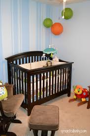 Cherry Convertible Crib by Bedroom Immaculate Brown Velvet Single Loveseat And Ottoman Also