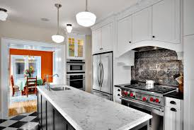 Mirror Backsplash Kitchen by Kitchen Narrow Gray Kitchen With Mirror Backsplash Also One Hole