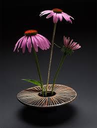 ikebana vase ikebana vase striae design flowers ikebana