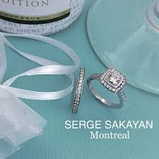 montreal wedding bands serge sakayan design 9 10 carat cut diamond halo engagement