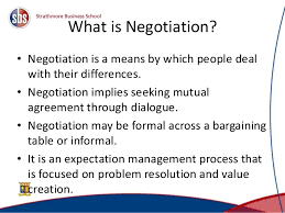 Seeking Negotiation Of Negotiations 1