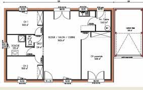 plan maison 80m2 3 chambres plan de maison de 3 chambres