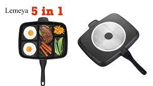 lemeya fryer pan non stick 5 in 1 fry pan cool kitchen gadgets