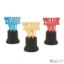 thank you trophy